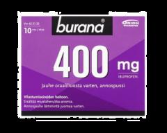 BURANA 400 mg jauhe oraaliliuosta varten, annospussi 10 kpl
