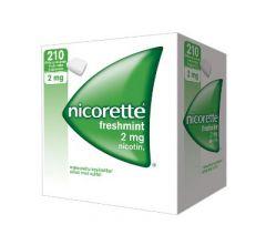 NICORETTE FRESHMINT 2 mg lääkepurukumi 210 fol